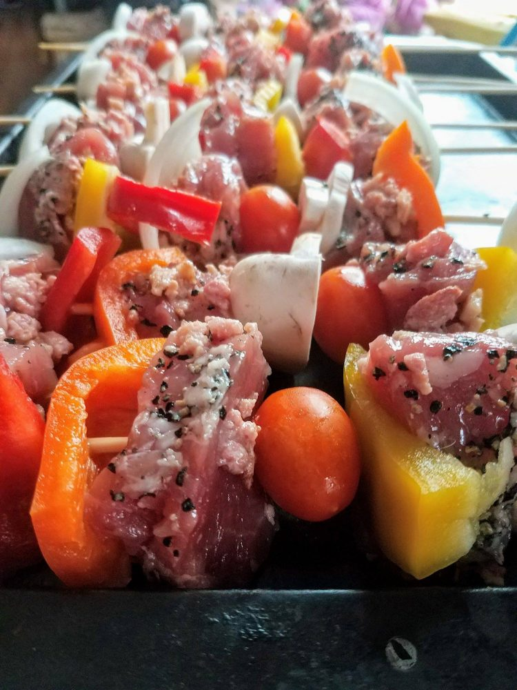 Summer meal in 30 minutes- Pork Tenderloin Kabobs