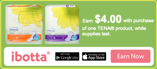 ibotta coupon for tena products