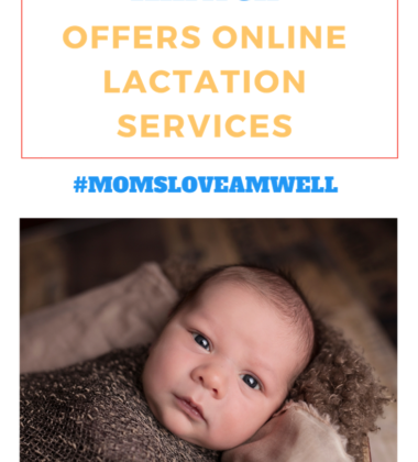Well, with Amwell you can talk to a Lactation Consultant right from your phone or computer in the luxury of your own home.