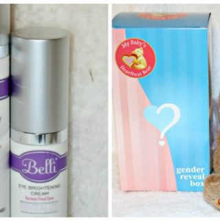 Baby Shower Gifts From Belli Skincare And My Baby's Heartbeat Bear