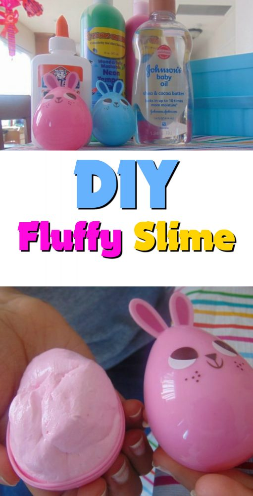 DIY Fluffy Slime Recipe- Make It yourself! Have fun with the kids. #Slime #slimerecipe #diy #fluffyslime
