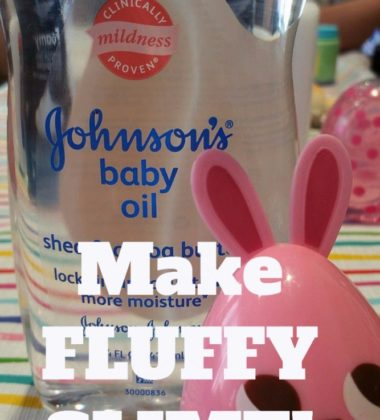Recipe for FLUFFY SLIME with Johnson's® Baby Oil