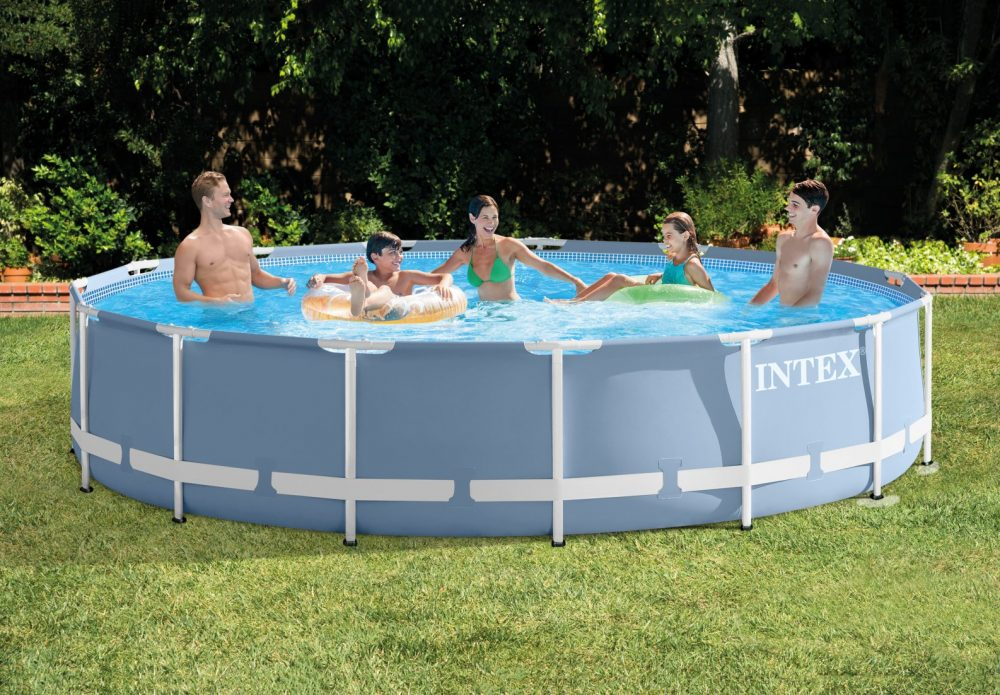 Enjoy hours of outdoor fun with the Intex Prism Frame™ 15ft X 33in pool.