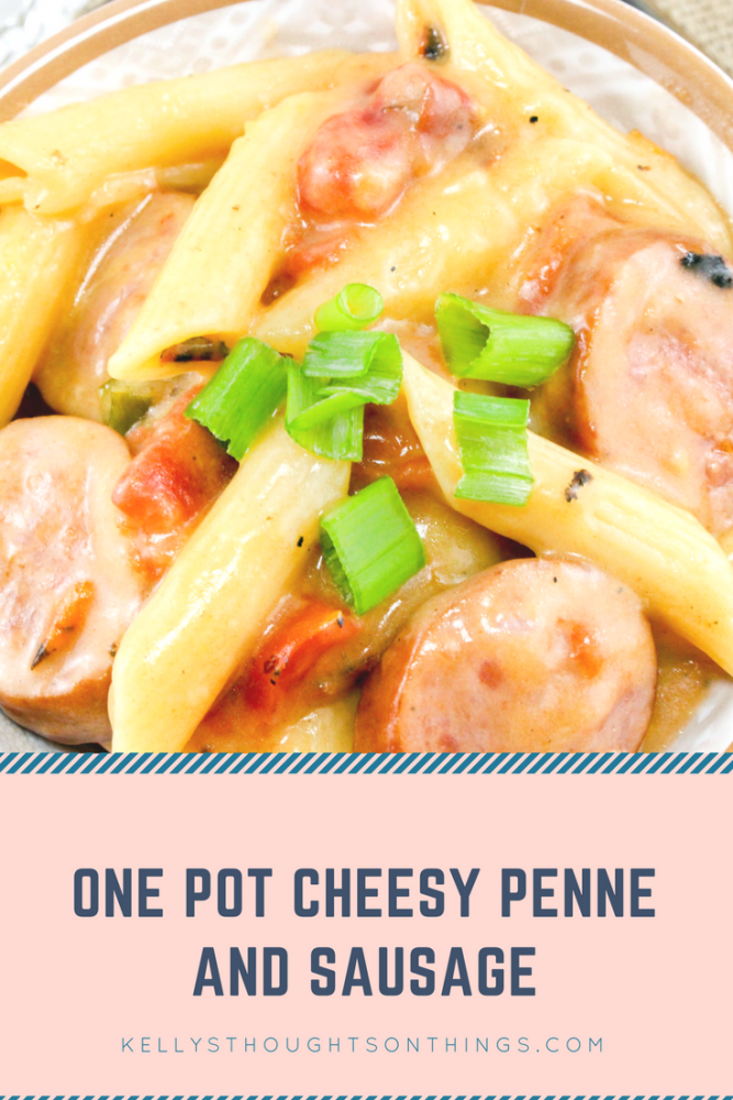 One Pot Cheesy Penne and Sausage Recipe