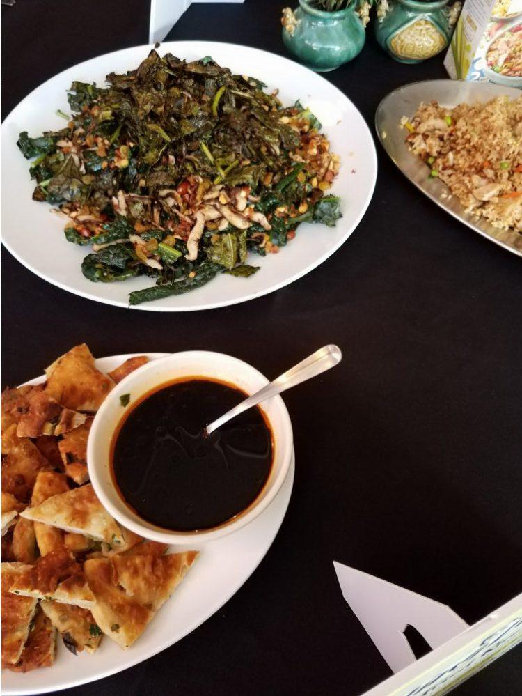 Crispy Kale Salad & Scallion Pancakes: Ling Ling Fried Rice Cooking Class #LingLingFriedRice #IC AD