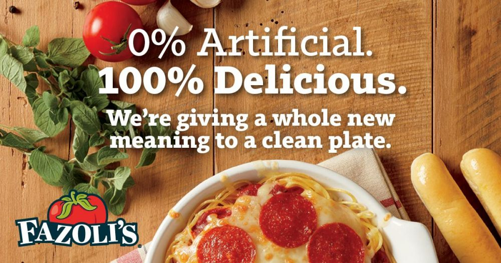 One Of Our Favorite Road Trip Spots~ Fazoli's® Italian Food...Fast Coupon $3 Off