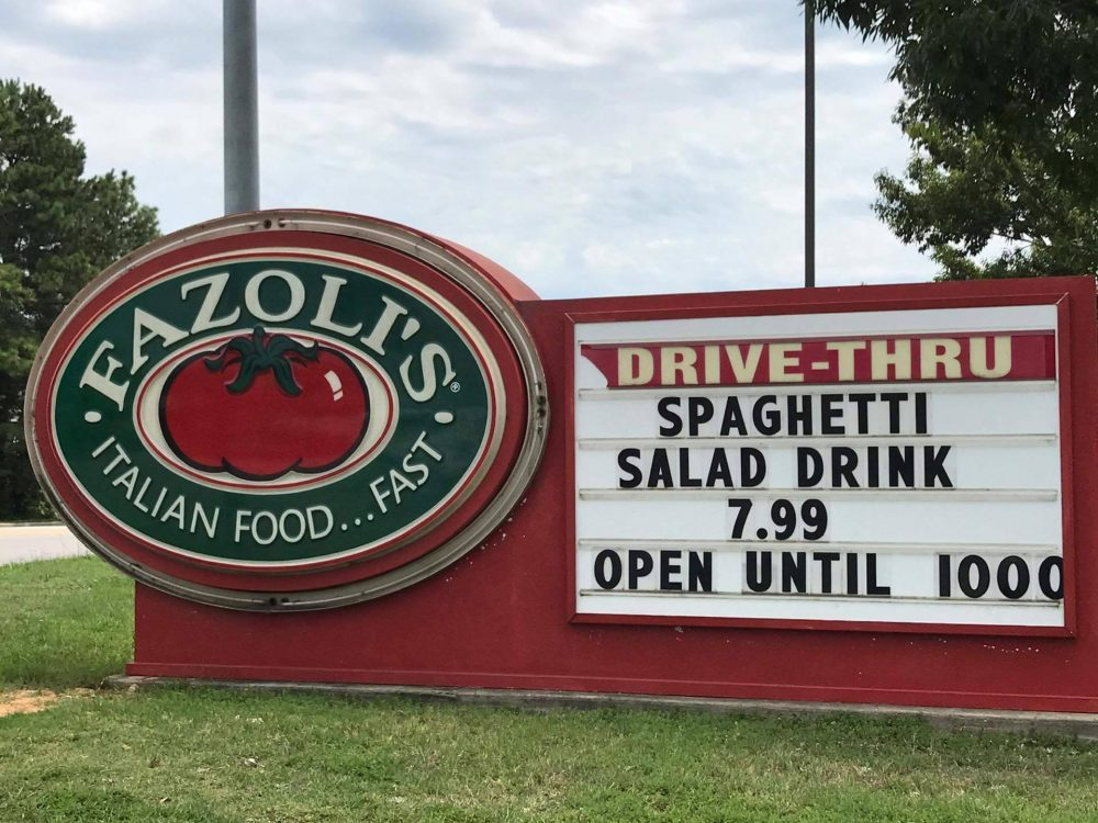One Of Our Favorite Road Trip Spots~ Fazoli's® Italian Food...Fast They have a Drive-Thru