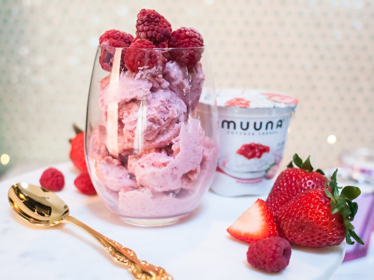 For National Ice Cream Day- Pink Berry Nice Cream Recipe!
