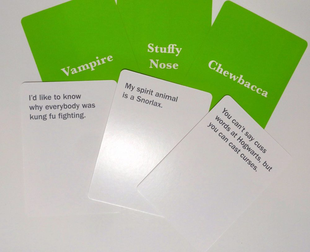 accent and phrase cards