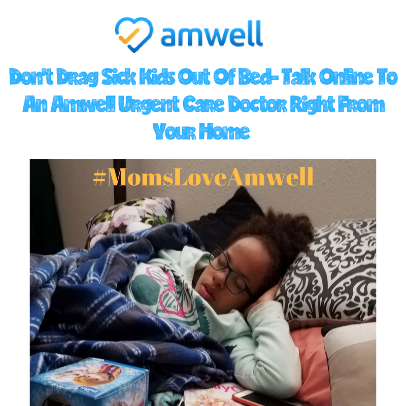 Don't Drag Sick Kids Out Of Bed- Talk To An Amwell Urgent Care Doctor Online #ad #momsloveamwell