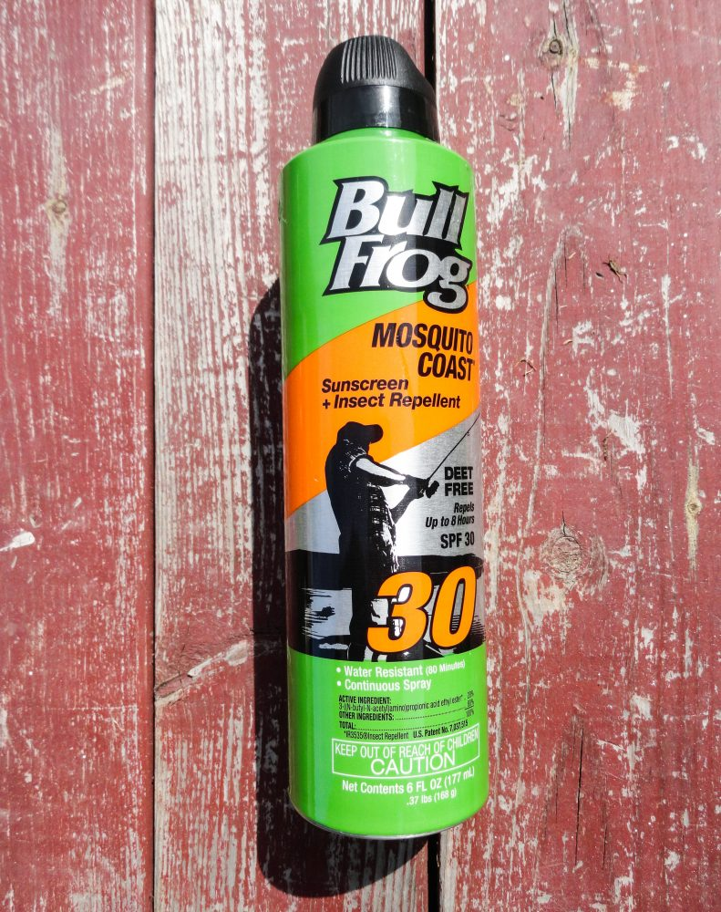 sunscreen and insect repellent