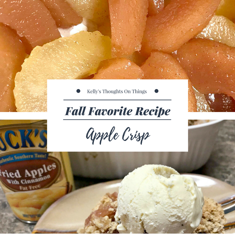 Serve your apple crisp straight out of the oven with a scoop of ice cream on top. #LucksFoods #Ad
