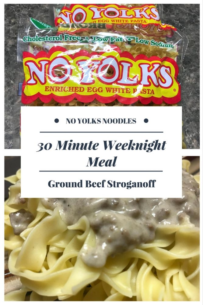Easy & Quick Ground Beef Stroganoff Recipe #NoOtherNoodle #NoYolks #IC #AD