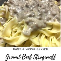 Easy & Quick Ground Beef Stroganoff Recipe