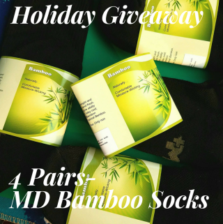 Holiday Giveaway- 4 Pairs Of Bamboo Socks (3 Winners)
