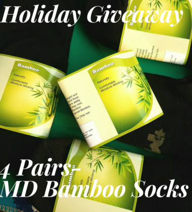 Enter Bamboo Sock Giveaway ends 11/15