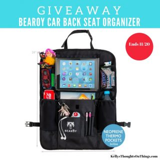 Car Clutter Away With Bearoy Car Back Seat Organizer ends 11/20