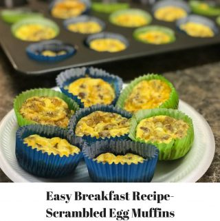 Easy Breakfast Recipe-Scrambed Egg Muffins