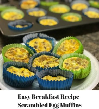 Easy Breakfast Recipe-Scrambed Egg Muffins