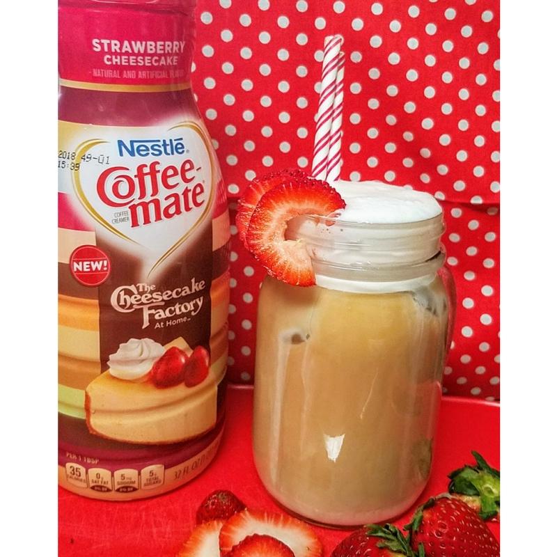 Iced Strawberry Cheesecake Iced Coffee