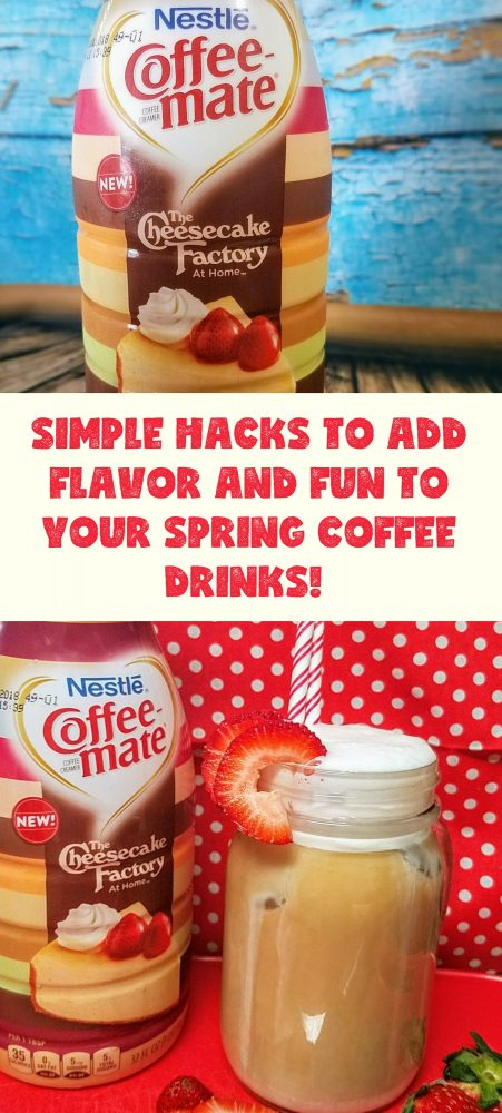 Next time you go to Walmart make sure to pick up the Nestlé® Coffee-mate® The Cheesecake Factory At Home creamer so you can make these yummy coffee drinks and the delicious popsicles! #FlavorYourSpring #ad #coffeedrinks #creamer #lovecoffee/https://ooh.li/165a584 KellysThoughtsOnThings.com