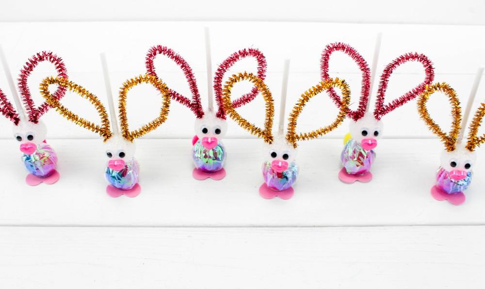 Easter Bunny Sucker Craft In Process 4