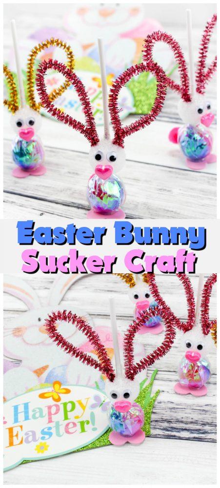 Easter Bunny Sucker Craft