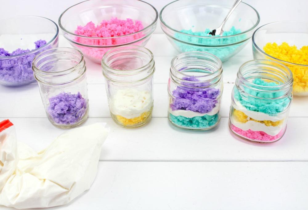 Easter Cake In A Jar Recipe In Process 4