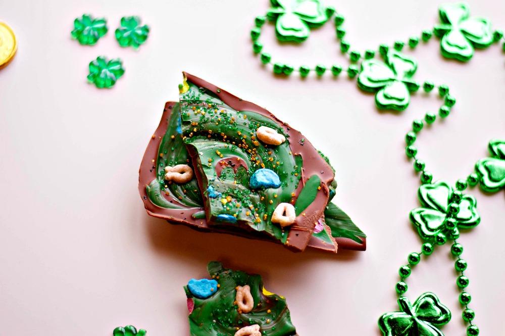 St. Patrick's Chocolate Bark Recipe Done