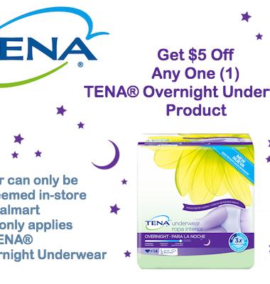 Coupon: $5 OFF Any TENA Overnight At Walmart #ChooseTENAOvernight #CollectiveBias