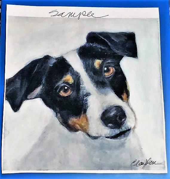 Celebrate Your Special Pets with a Custom Pet Portrait from LouLou Clayton 1