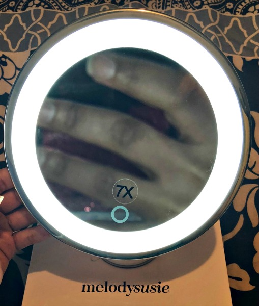 Stay Put Together with the MelodySusie Portable Magnified LED Lighted Makeup Mirror 2