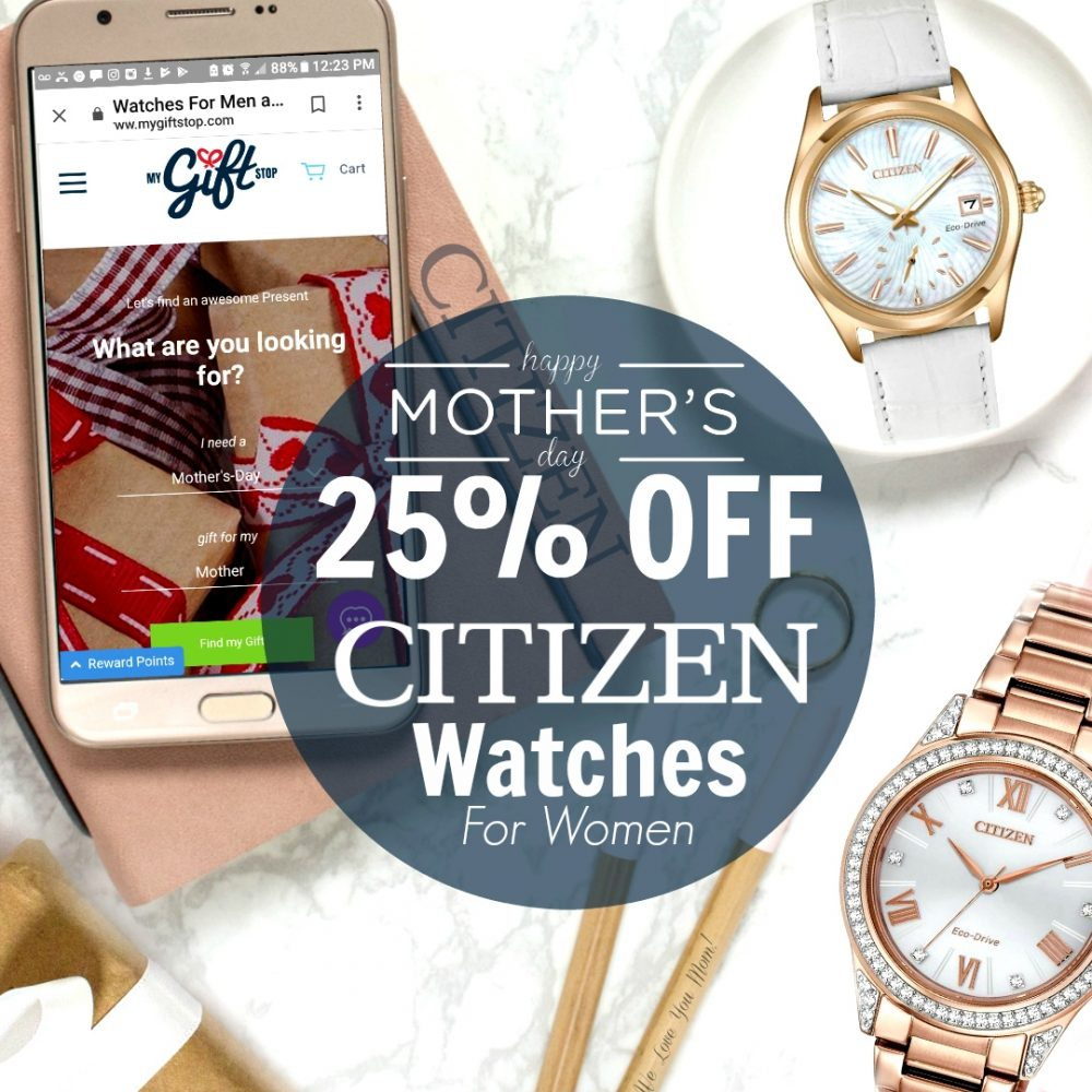 Mother's Day Gift: 25% Off Citizen Women's Watches