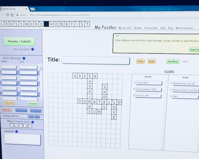 AN EASY WAY TO MAKE YOUR OWN CROSSWORD AND WORD SEARCH PUZZLES