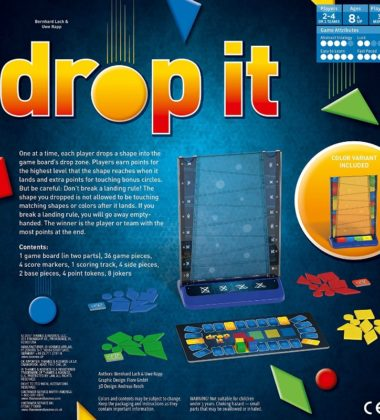 A New Family Board Game - Drop It!