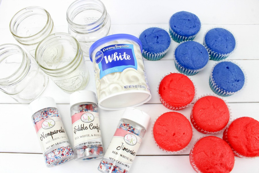 4th of July Cake ingredients