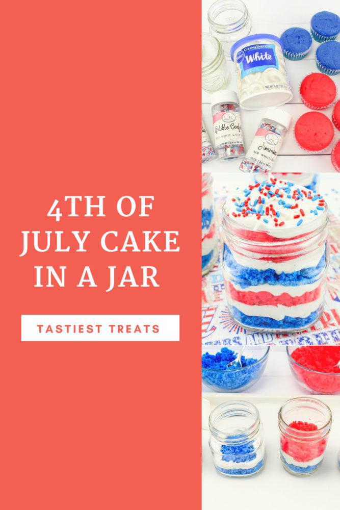 4th of July Cake in a Jar Recipe