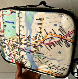 Get Into a New York State of Mind with the NYC Subway Line Reusable Lunch Bag