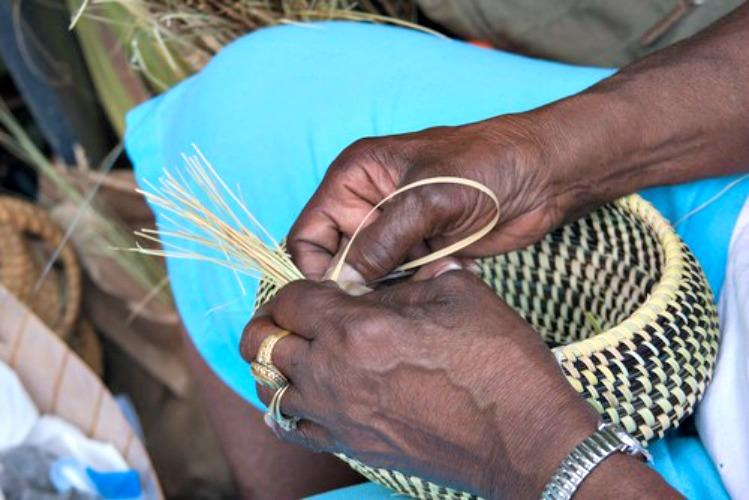 The Making of Sweetgrass Baskets