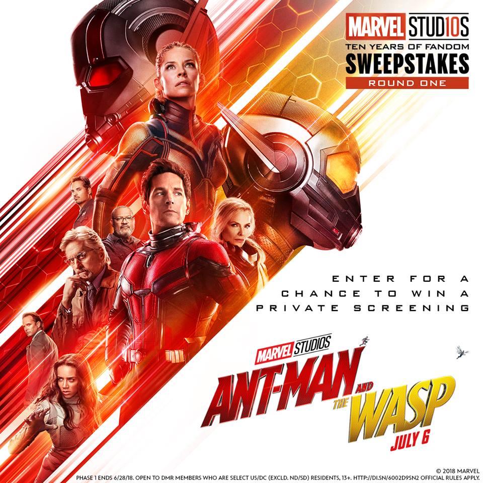 Marvel Studios Ten Years of Fandom Sweepstakes- Win A Private Screening