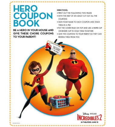 Movie Clips and Printables #Incredibles2