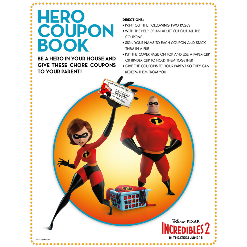 INCREDIBLES 2 Is HERE! Clips and Printables For The Kids!