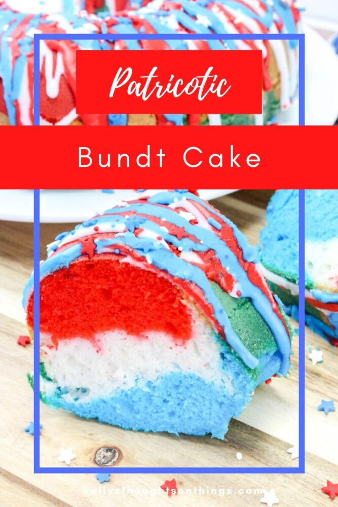 Red, white and blue Patriotic cake