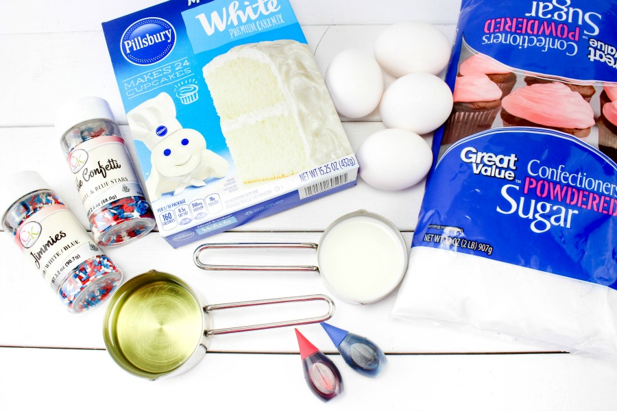 Patriotic Cake Cake Ingredients