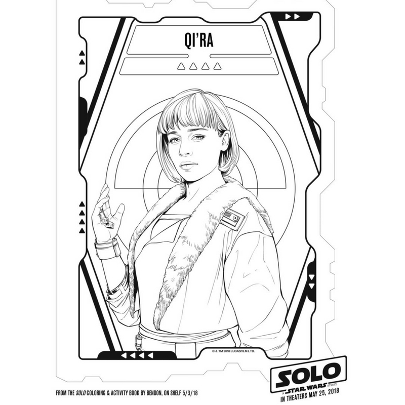 Solo Coloring Page