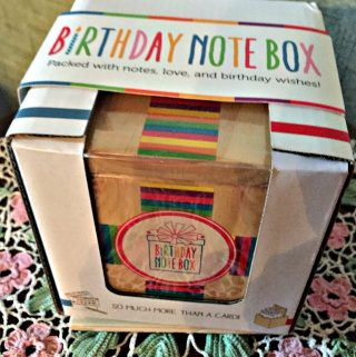 The Birthday Note Box is From The Heart