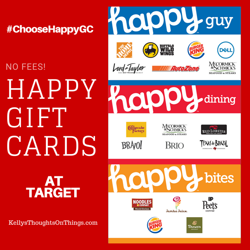 Starting July 31- August 6: Get Happy with Happy Cards. You can select your Happy Card and fill it with from $20 to $500 for your favorite guy or the whole family.