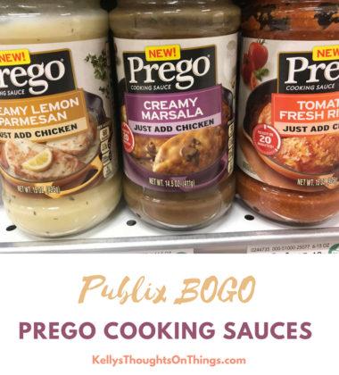 NEW Prego Cooking Sauces at Publix BOGO until 8/1