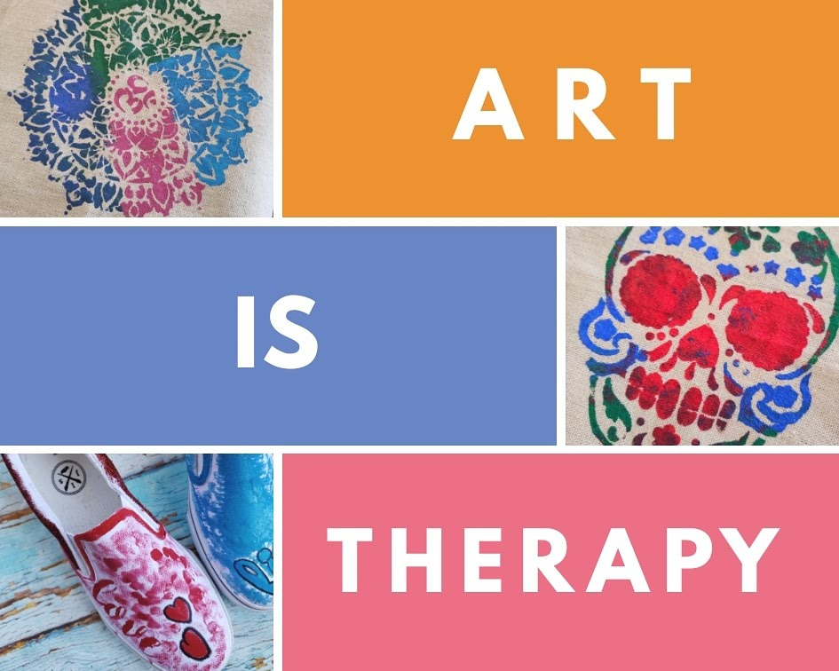 Art is Therapy collage