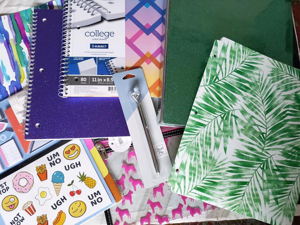School supplies for back to school- Office Depot